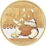 Gold 1 oz 2017 - China 500 Y China Panda 30 g Gold