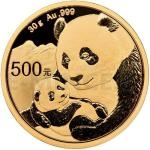 Gold 1 oz 2019 - China 500 Y China Panda 30 g Gold