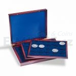 Presentation Case VOLTERRA TRIO de Luxe, each for 20 Coins in capsules up to 41 mm Ø Presentat