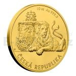 2018 - Niue 500 NZD Gold 10 oz investment Coin Czech Lion - Stand