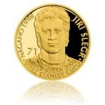 Samoa Gold quarter-ounce coin Legends of Czech Ice hockey - Jiří Šlégr - proof