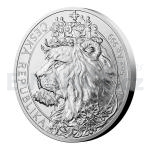 2021 - Niue 10 NZD Silver 5oz Bullion Coin Czech Lion - Standard
