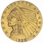 Historical Coins 1925 - USA 2,50 $ Indian Head