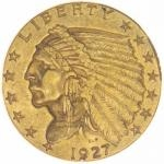 Historical Coins 1927 - USA 2,50 $ Indian Head
