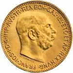 Modern Gold Re-strikes - Austria 20 Crown 1915 - Franz Joseph I.