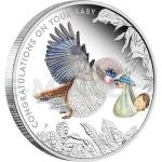2015 - Australia 0,50 $ Newborn Baby 1/2oz Silver Proof Coin