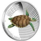 2011 - Australian Sea Life II - The Reef - Hawksbill Turtle 1/2oz Silver Proof Coin