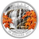 2014 - Kanada 20 $ Autumn Falls - proof