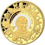 2014 - Cook Islands 200 $ - Canonization of John Paul II - Proof