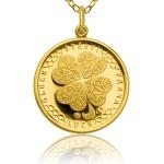Jewellery Four-Leaf Clover for Luck Gold Pendant - Proof