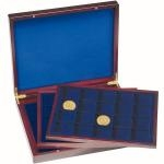Presentation Case VOLTERRA TRIO de Luxe, each with 60square divisions for coins up to 48mm