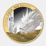 2014 - New Zealand 1 $ The Hobbit: Bilbo and Smaug Silver Proof Coin