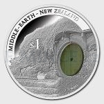 2014 - New Zealand 1 $ The Hobbit: Bag End Silver Proof Coin
