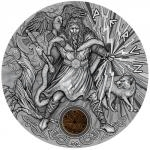 2018 - Niue 2 NZD Perun - Slavic God - Antique Finish