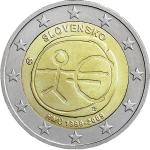 Slovak 2 Euro Commemorative Coins 2009 - 2 € Slovakia - 10th anniversary of Economic and Monetary Union - Unc