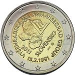 Slovak 2 Euro Commemorative Coins 2011 - 2 € Slovakia - 20th anniversary of the formation of the Visegrad Group - Unc