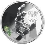 For Him 2012 - Russia 3 RUB - Sochi 2014 - Snowboarding