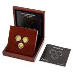 Set of Three Gold Medals Vaclav Havel - Dramatist, Dissident, President - proof