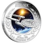 2015 - Tuvalu 1 $ Star Trek - U.S.S. Enterprise NCC-1701 - Proof