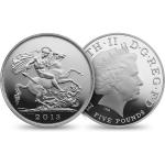 Velká Británie 2013 - Velká Británie 5 GBP - The Royal Birth Sovereign - proof