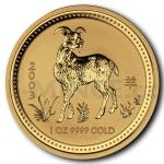 Gold 1 oz 2003 - Australia 100 AUD Lunar Series I Year of the Goat 1 oz Au 999,9