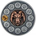 2020 - Niue 1 $ Zodiac Signs - Capricorn - Antique Finish
