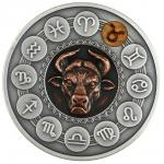 2020 - Niue 1 $ Zodiac Signs - Taurus - Antique finish