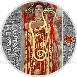 2018 - Niue 1 NZD Gustav Klimt - The Medicine - proof Click to view the picture detail.