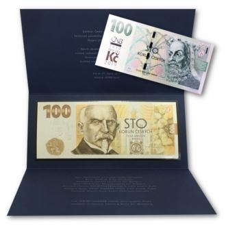 Commemorative banknote 100 CZK 2019 Building Czechoslovak currency + 100 CZK with Print Click to view the picture detail.