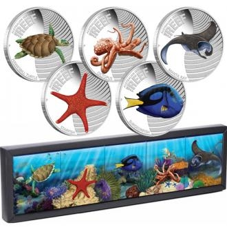 2012 - Australian Sea Life II - The Reef Set of Five 1/2oz Silver Proof Coins Click to view the picture detail.